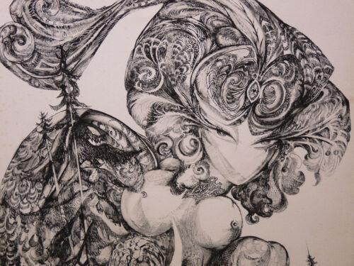 Luc Simon (1924-2011) Surrealism Artist