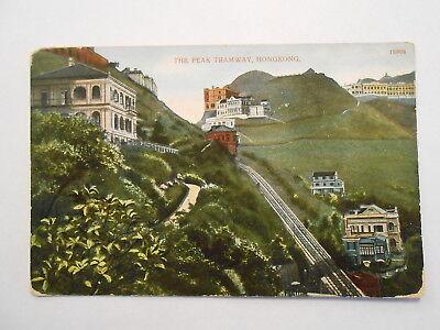 Old Postcard. HONGKONG, THE PEAK TRAMWAY