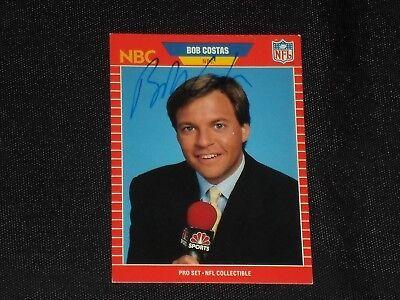 Bob Costas 1989 Pro Set Signed Autographed Card  23 Nbc Announcer