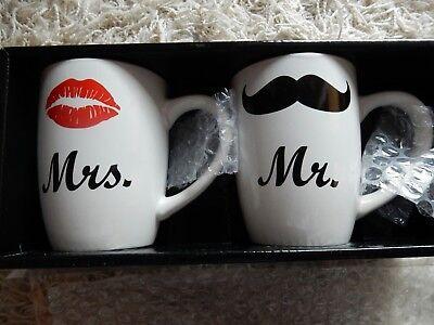Mr. und Mrs. Tassen Set Hochzeit Geschenksets
