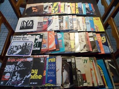 "Lot de 100 Disques / Vinyles - 7"" - 45 tours Anglais - English - 5 photos - (12)"
