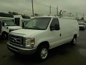 2008 Ford Econoline E-150 Cargo Van with Ladder Rack and Rear Sh