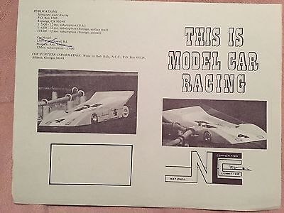 Vintage Slot Car Brochure - This Is Model Car Racing (blue)