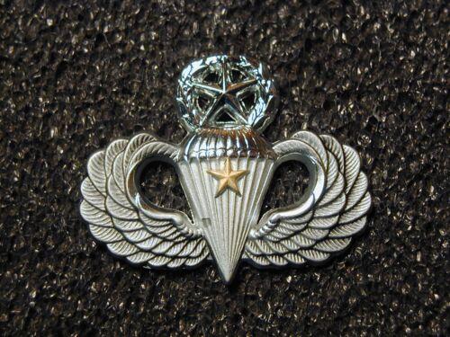 Rare J Balme Hallmarked Airborne Master Parachutist Combat Jump Star wings badge