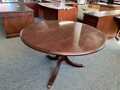 Round Conference Table By High Point Furniture 48d In Mahogany Laminate
