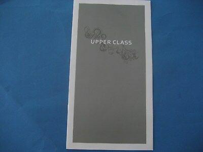 VIRGIN  UPPER CLASS MENU & WINE LIST