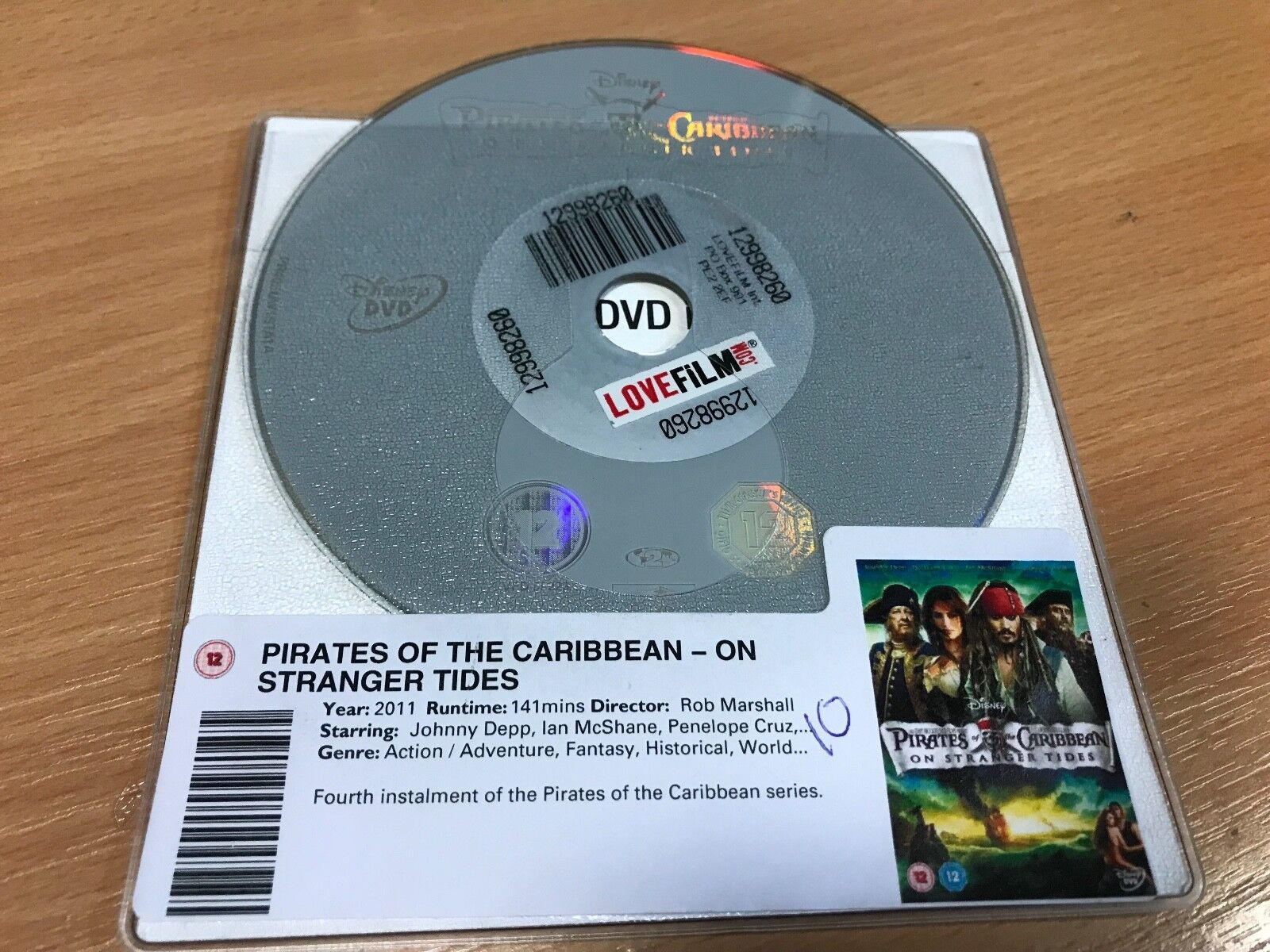 Pirates Of The Caribbean - On Stranger Tides (DVD, 2011) DISC ONLY