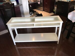 White wooden IKEA TV Stand/Sideboard. Perfect condition