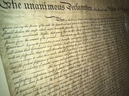 Declaration of Independence Lithograph 1955 by Theodore Ohman