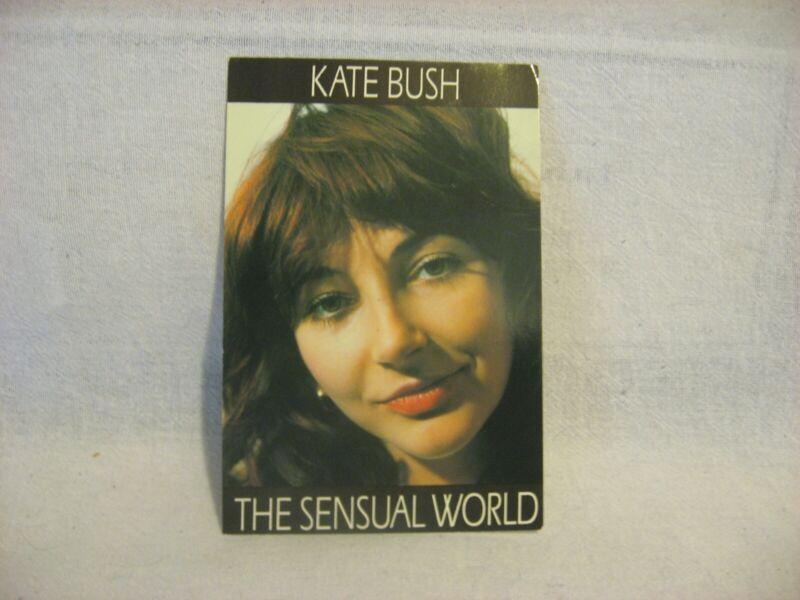 Kate Bush promotional publicity Sensual World color postcard Splash unused