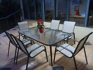 OUTDOOR TABLE AND SIX CHAIRS. Eleebana Lake Macquarie Area Preview