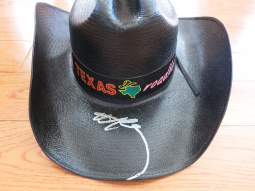 Willie Nelson signed concert worn hat coa + Proof! Highwaymen Country Legend!