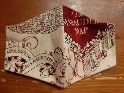Kindermundschutz/Nasenmaske/Behelfsmaske/BW/Harry Potter The Marauders Map Gr.XS