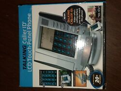Shift3 Talking Caller ID LCD Touch Panel Phone ALARM CLOCK !! New OPEN Box #C-6.