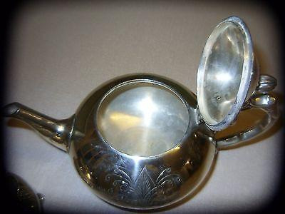 Ornate vintage silver plated (EPNS) 3 piece tea set