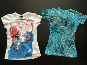 Lot K —  Sinful By Affliction T-Shirts (size Small)