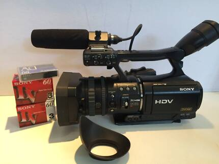 Sony HVR V1P professional camcorder and accessories