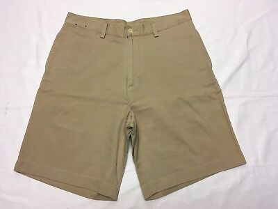 NAUTICA CLIPPER RELAX FIT MEN'S BEIGE KHAKI CASUAL GOLF SHORTS SZ 33W BEST