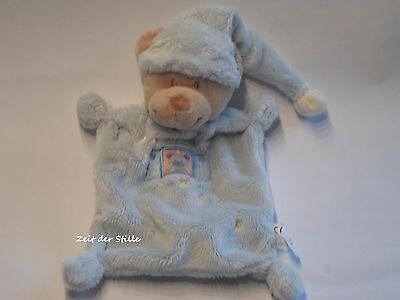 NICOTOY Schmusetuch Bär Teddy blau Stern Stick Fensterladen gebraucht kaufen  Büdelsdorf