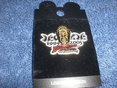 Disney 2005 DLR INDIANA JONES ADVENTURE 10th Anniversary Event Logo LE Pin