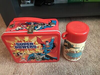 1983 DC SUPER POWERS lunch box with thermos vintage Batman Superman Wonder Woman