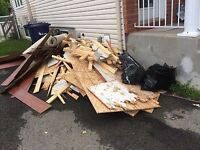 Junk & waste removal service  Quick! Clean! Professional !
