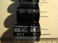 NOS RUBYCON Elkos 400 V 47uf condensateur 4 pcs. CFX Series Capacitors