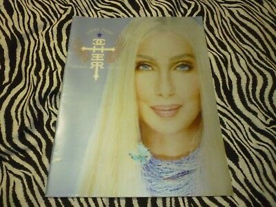 Vintage Cher Farewell Tour Book 2002 With Concert Ticket - Good Condition