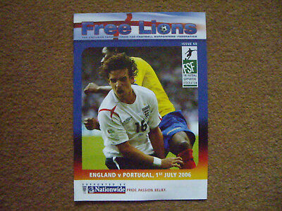 ENGLAND V PORTUGAL FREE LIONS, 1/7/2006, ISSUE 60, WORLD CUP 2006