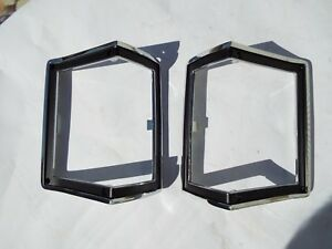 1972 72 CHEVELLE EL CAMINO & S/W PARK LAMP PARKING LIGHT NEW PAIR CHROME BEZELS