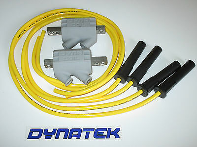 <em>YAMAHA</em> FZ600 22 OHM DYNA IGNITION COILS  TAYLOR LEADS YELLOW
