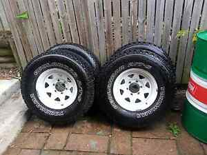 31x10.5R15 yokohama geolandars on 15x7 -25 sunraysia rims Carina Heights Brisbane South East Preview
