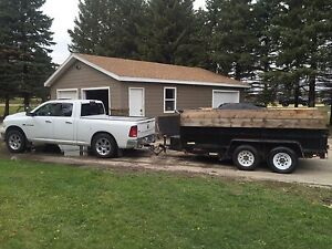 2012 6x12' Dump Trailer For Rent or Hire