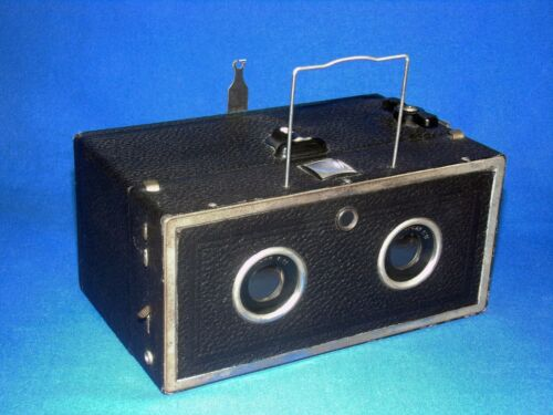 Antique 1933 Eho Altissa Stereo Box Camera 120 Film Germany WORKS GREAT! WORKING