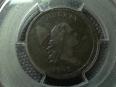 PCGS Genuine 1797 Liberty Cap Half Cent  Pl. Edge  Nice