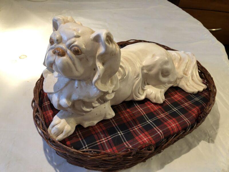PEKINGESE DOG FIGURINE Art Pottery
