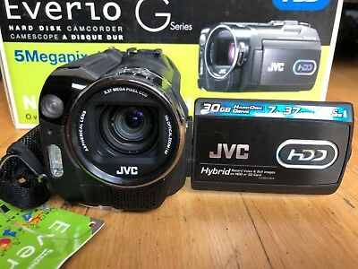 JVC GZ-MG555 Camcorder HDD 30GB  Remote Software Manual Cables Dock Box