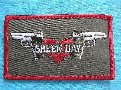Green Day Double Guns Iron On Patch