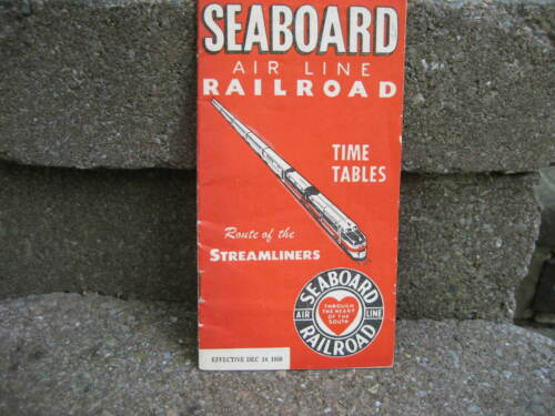 1950 Seaboard Air Line Railroad Time Table