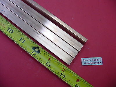 4 Pieces 14x 12 C110 Copper Bar 14 Long Solid Flat .25 Bus Bar Stock H02