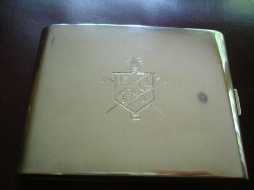 Rare 1920s STERLING SILVER Cigarette CASE Bloomfield Hills Country Club Michigan