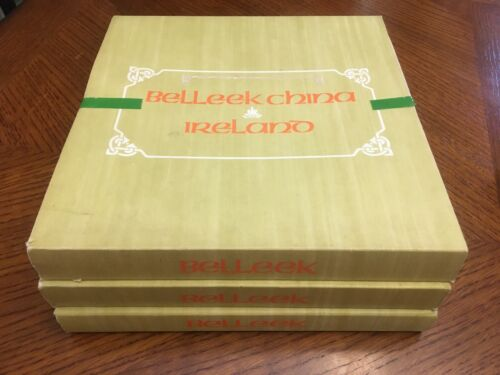 Set of 3, 1978-1980 Belleek Limited Edition Christmas China - Ireland Wildlife
