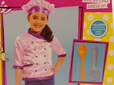 Preschool Dress Up Clothes (Barbie pastry chef baker Dress Up Costume Preschool Size 4-6 Coat hat)