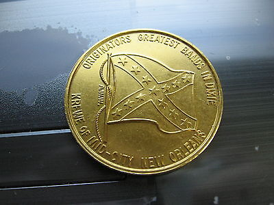 flags rebel confederate flag american 1965 Mardi gras Doubloon Coin new orleans