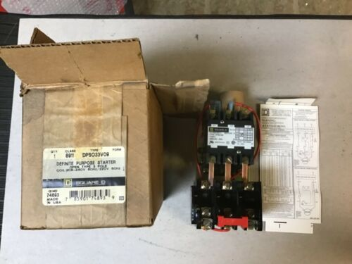 Square D 8911 DPSO33 Motor Starter 8911 DPSO33V09 With 208-240 Coil-NIB