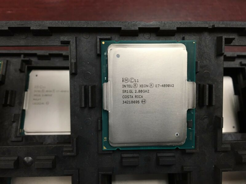 Intel Xeon E7-4890v2 2.8ghz 15 Core 37.5mb Cache 8gt/s Cpu Processor Sr1gl
