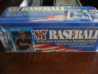 1987 Fleer Baseball Team Logo Stickers/Trading Cards - factory sealed in tin box Fleer Factory Sealed Baseball