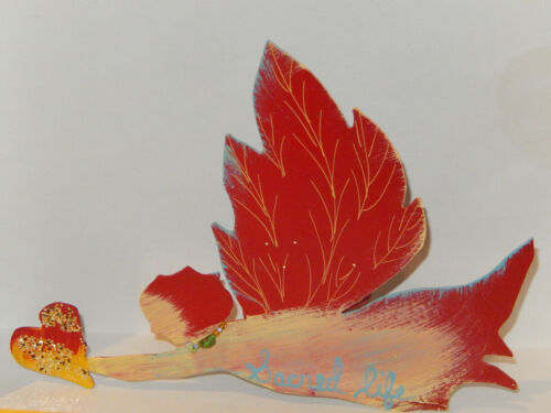 JES MAHARRY ARTIST SIGNED HEIRLOOM ANGEL TREE TOPPER SACRED LIFE BEADS 2012 NEW