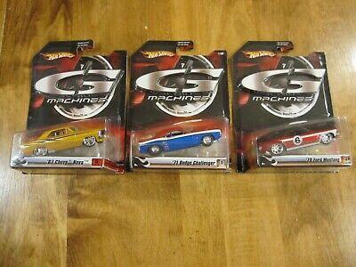 Hot Wheels G Machines 67 Nova 71 Challenger 70 Mustang  1:50 G-Machines