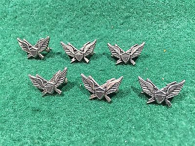 Lot of 6 1970's Vintage Army Air Assault Badge Pins